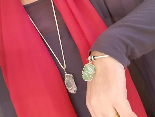 Clear Quartz and Green Calcite