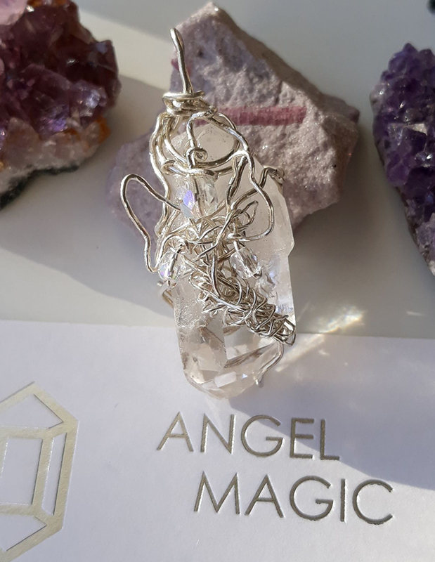 Clear Quartz Flying Angel