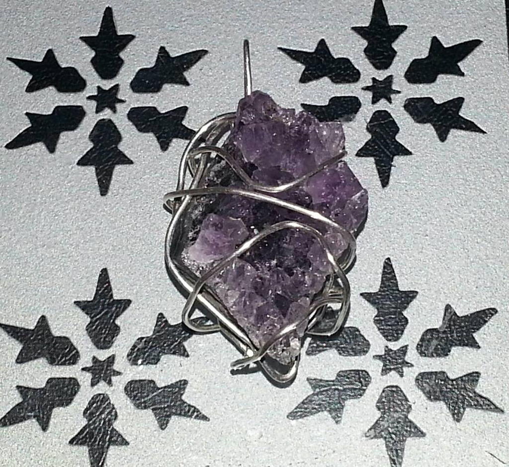 Amethyst and Snowflakes